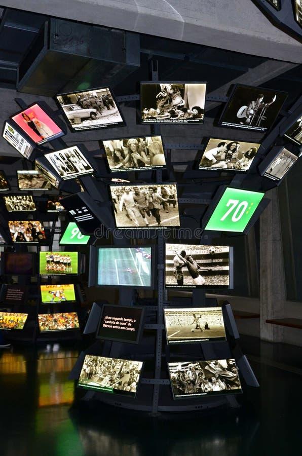 Muzeum futbol jest przestrzenią poświęcać różni tematy wymaga praktykę historię i cur, Sao Paulo, Brazi fotografia royalty free