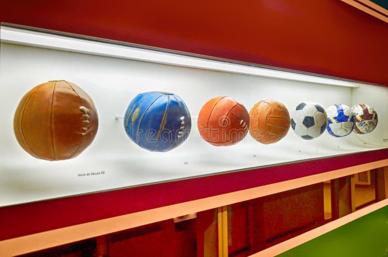 Muzeum futbol jest przestrzenią poświęcać różni tematy wymaga praktykę historię i cur, Sao Paulo, Brazi obrazy stock