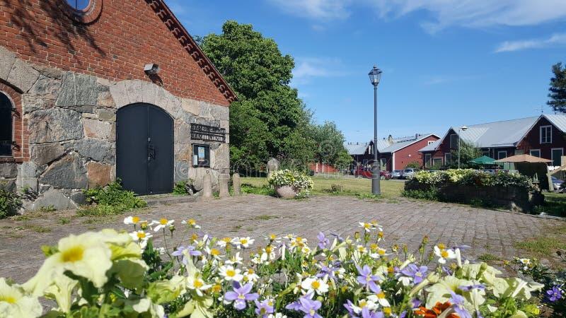 Muzeum Hanko Mały stary muzeum z odmienianie wystawami Atrakcja turystyczna w miasteczku przybrzeżnym Hanko, Finlandia fotografia stock