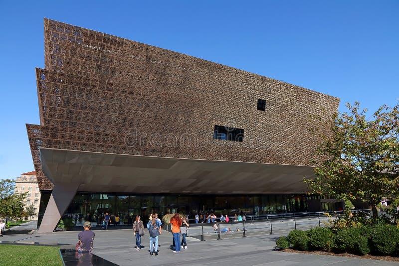 Muzeum Historii i Kultury Ameryki Afrykańskiej w Smithsonian obrazy stock