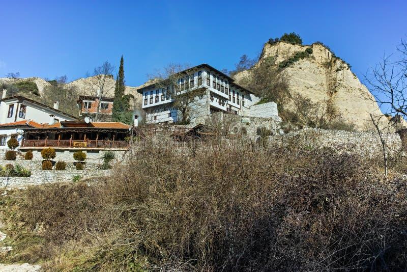 Muzeum Kordopulov dom i piasków ostrosłupy w Melnik miasteczku, Bułgaria zdjęcia royalty free