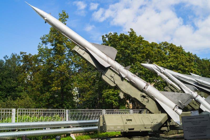 Muzeum lotnicze obrończe siły Lotniczej obrony system rakietowy C-75 obraz stock