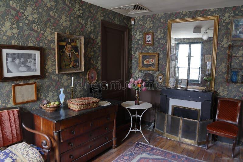 Muzeum Montmartre, siedziba i spotkania miejsce dla, wiele artystów wliczając Auguste Renoir, Suzanne Valadon Berna i Émile, obraz stock