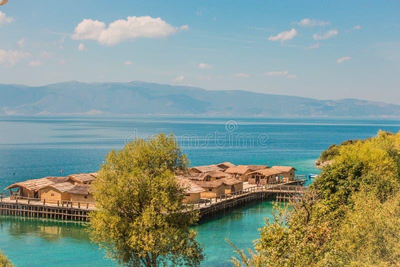 Muzeum na wodzie Ohrid, Macedonia - zatoka kości - obrazy royalty free