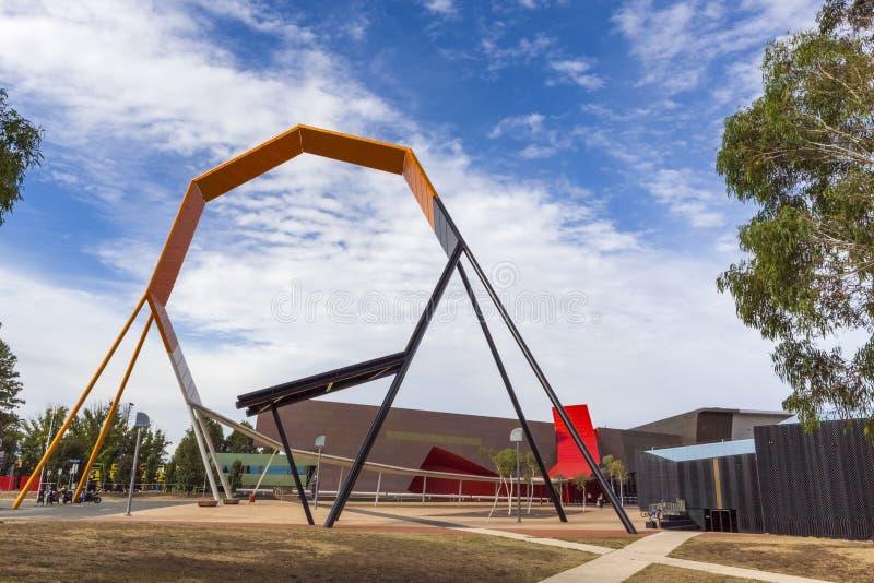 Muzeum Narodowe Canberra, Australia fotografia royalty free
