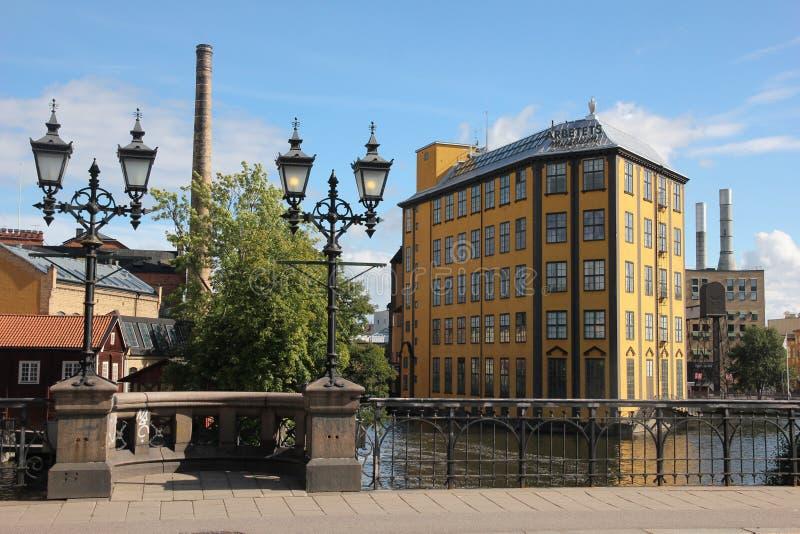 Muzeum praca. Przemysłowy krajobraz. Norrkoping. Szwecja fotografia stock