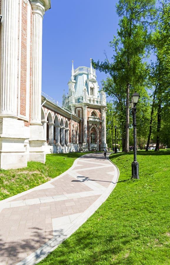 Muzeum rezerwowy Tsaritsyno i park moscow Rosji zdjęcie royalty free