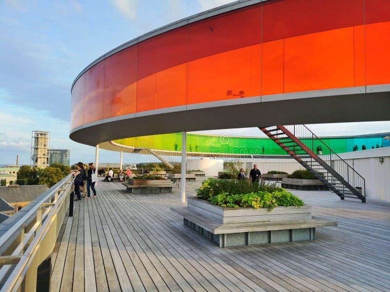 Muzeum sztuki ARoS w Aarhus, Dania obrazy stock