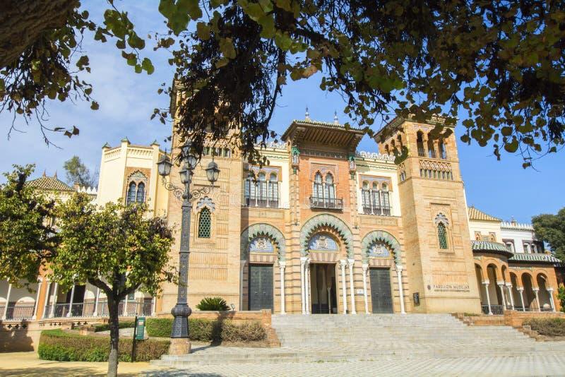 Muzeum sztuki i tradycje Sevilla (Hiszpania) obraz stock