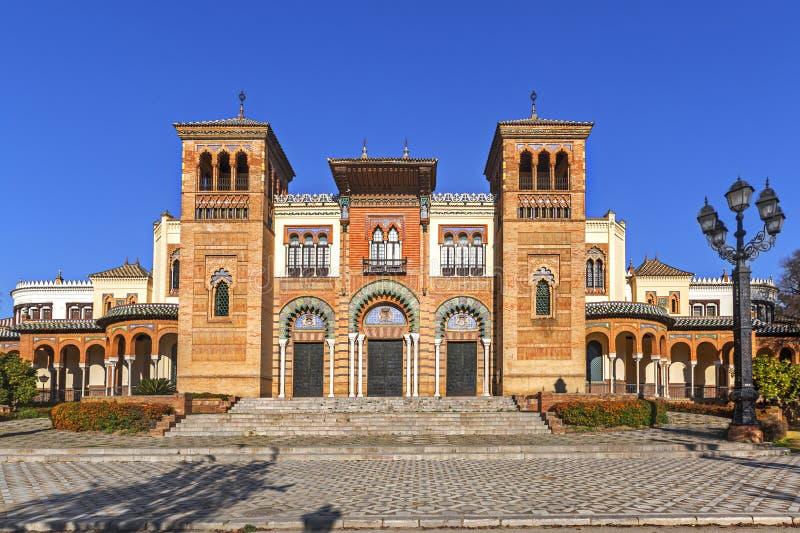 Muzeum sztuki i tradycje w Sevilla fotografia stock