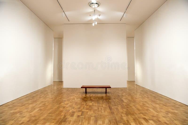 Muzeum Sztuki, Puste galerii ściany, tło zdjęcie royalty free