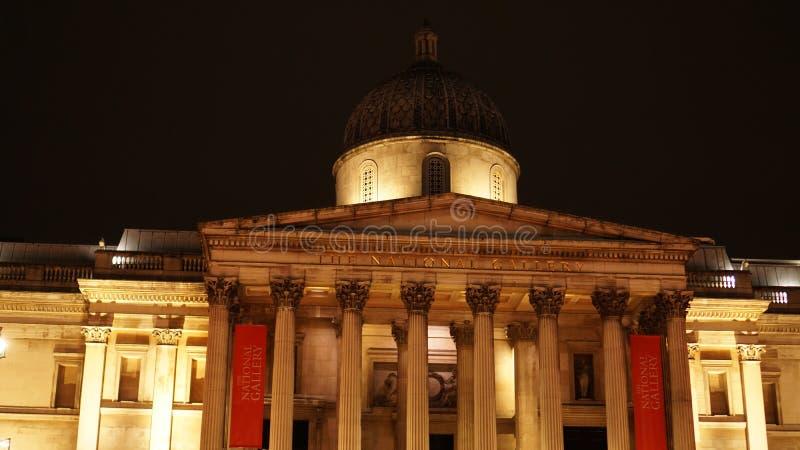 Muzeum sztuki w National Gallery na Trafalgar Square w Westminster, Londyn, Wielka Brytania zdjęcia stock
