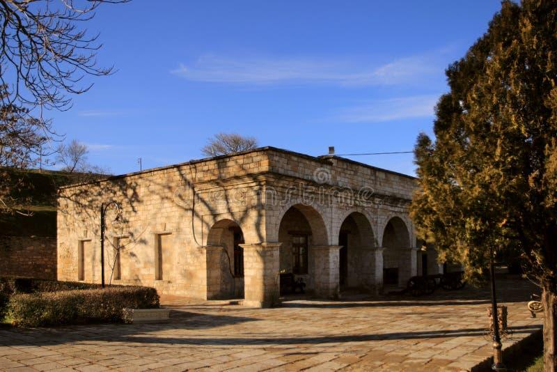 Muzeum w Sassanid Forteczny Naryn-Kala w Derbent mieście, republika Dagestan obrazy royalty free