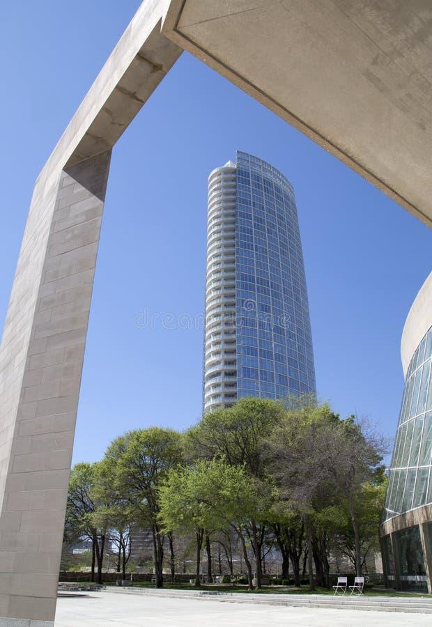 Muzeum wierza w śródmieściu Dallas zdjęcie royalty free