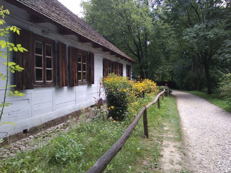 Muzeum Wsi Lubelskiej, Skansen - Freiluftmuseum stockbilder