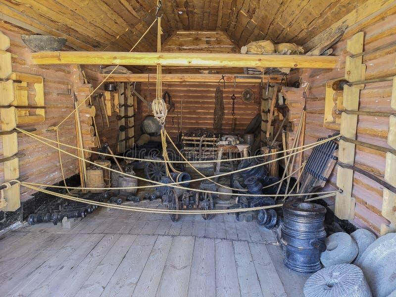 Muzeum Zaporozhye kozaczkowie Koń, strzała zdjęcie stock