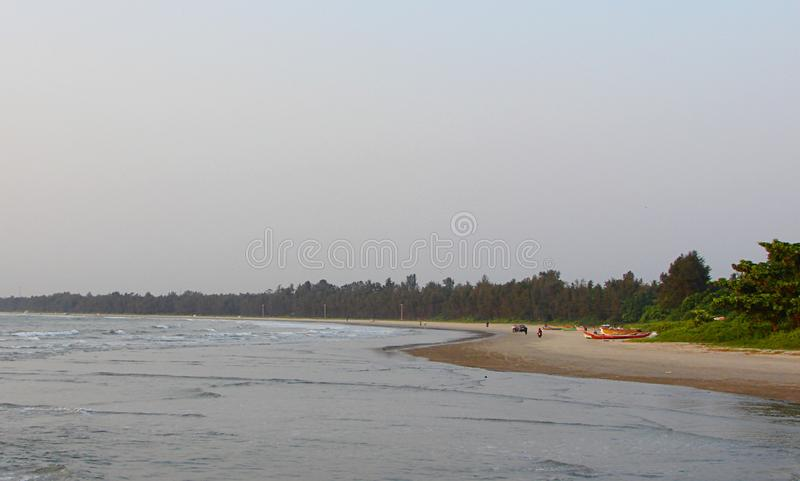 Muzhappilangad Drive In Beach, Kannur, Kerala, India - Natural Background. This is a photograph of Muzhappilangad beach in Kannur district in Kerala, India royalty free stock image