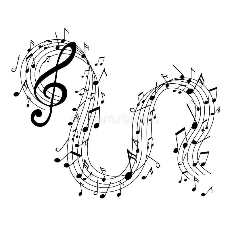 Muziek, abstract ontwerp vector illustratie
