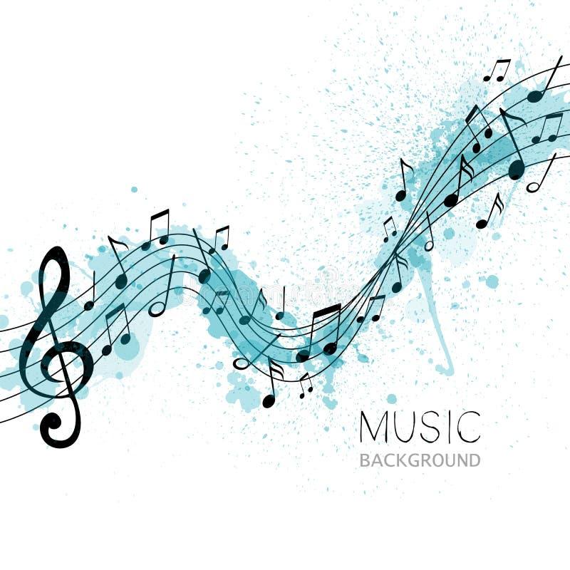 Muziek, abstract ontwerp stock illustratie