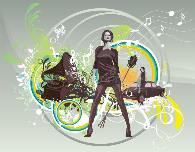 Muziek-achtergrond vector illustratie