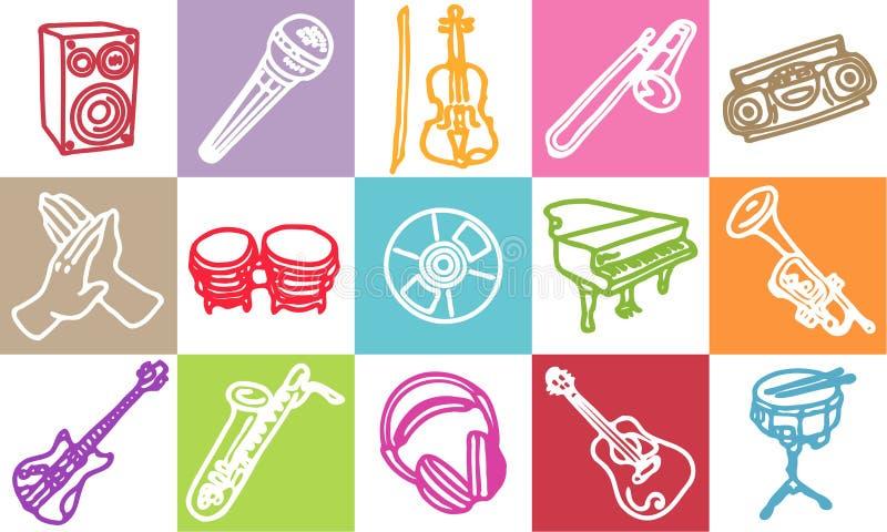 Muziek & geluid royalty-vrije illustratie