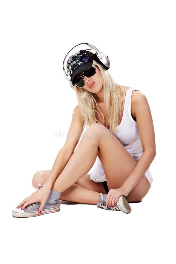 Muziek babe stock foto