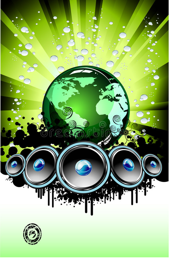 Muziek Backound stock illustratie