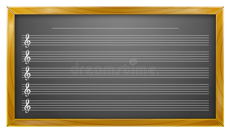 Muziek, Bord, Muziekonderwijs, Achtergronden royalty-vrije illustratie
