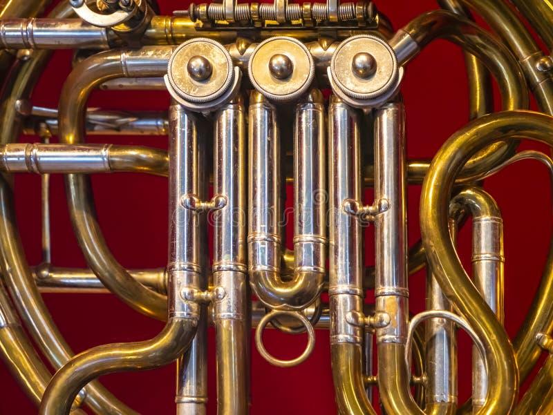 Muziek Brasswind-instrument Alto-hoorn stock afbeelding
