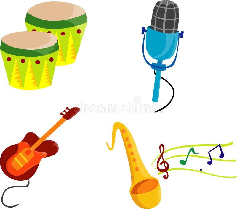 Muziek Cliparts stock illustratie