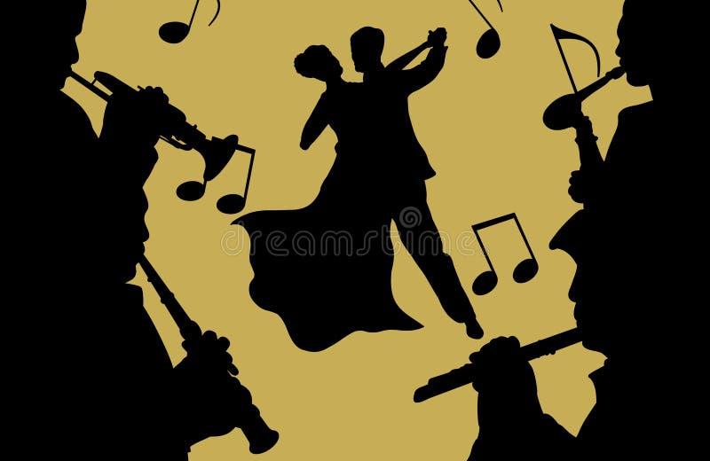 Muziek en Dans stock illustratie