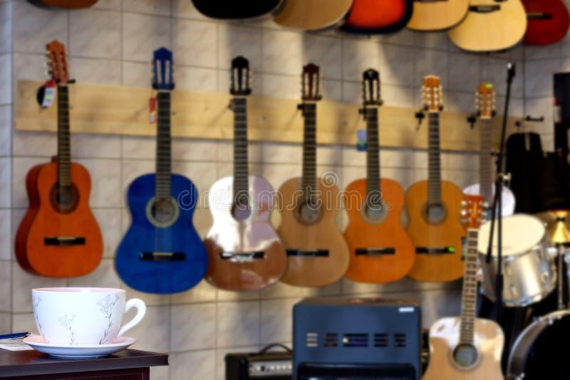 Muziek en koffie royalty-vrije stock foto's