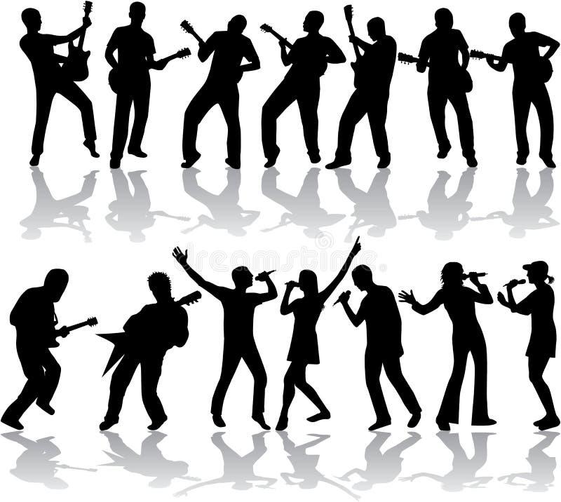 Muziek en lied stock illustratie