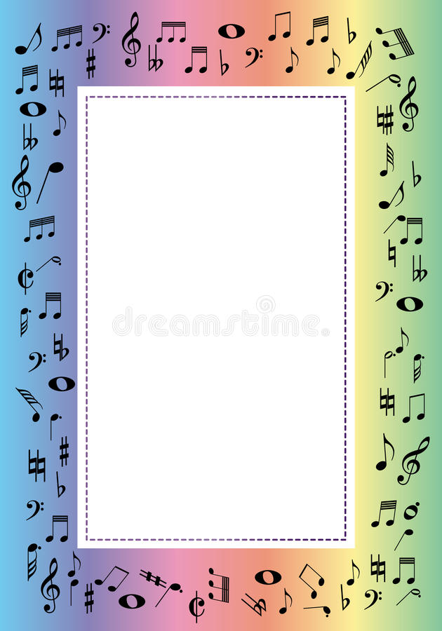 muziek grens vector illustratie