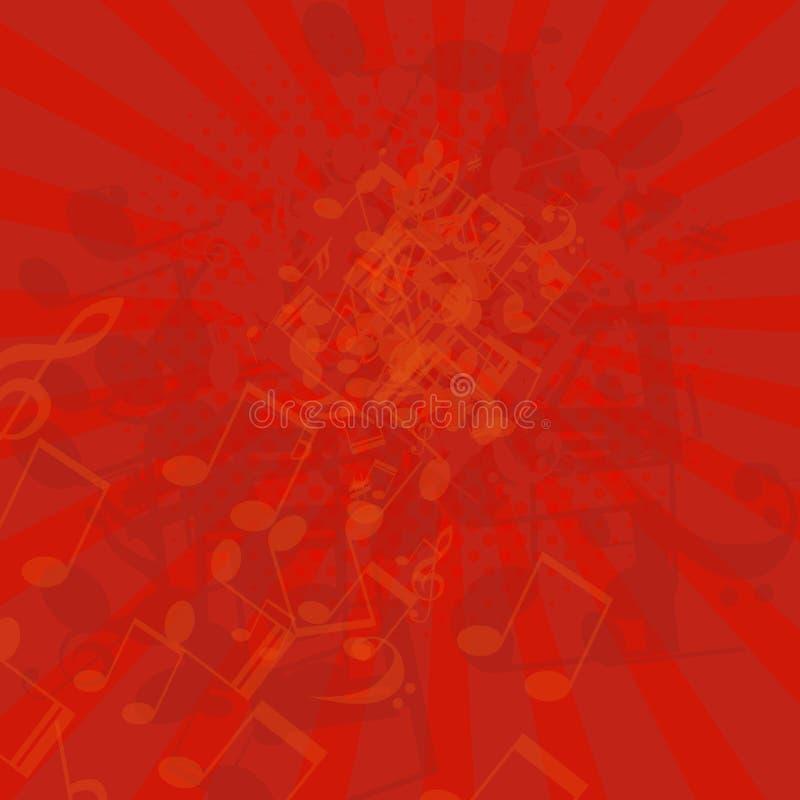 Muziek grunge achtergrond vector illustratie