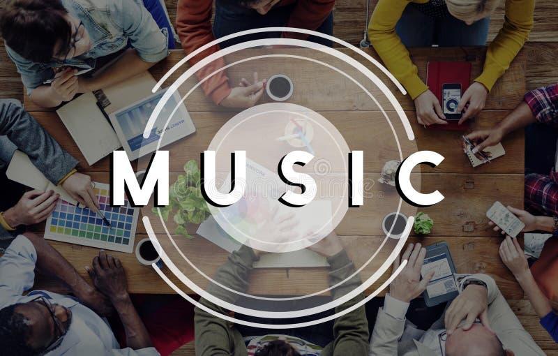 Muziek het Radioconcept van de Partijlevensstijl Van verschillende media stock foto's