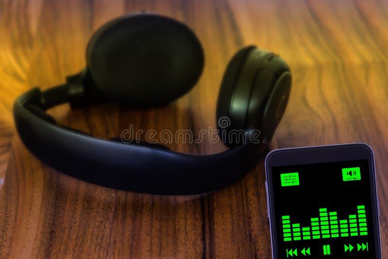 Muziek het stromen concept stock foto's