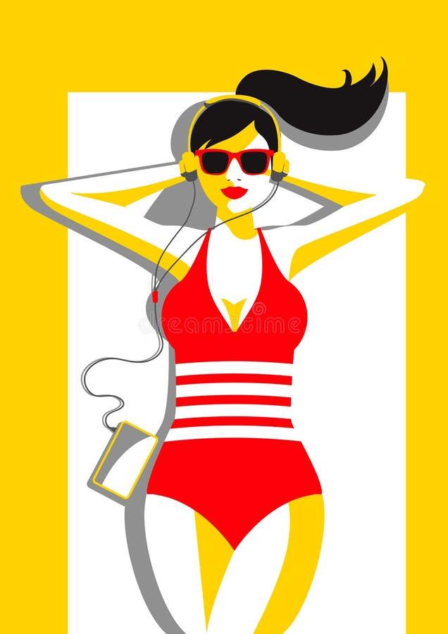 Muziek in het zonlicht vector illustratie