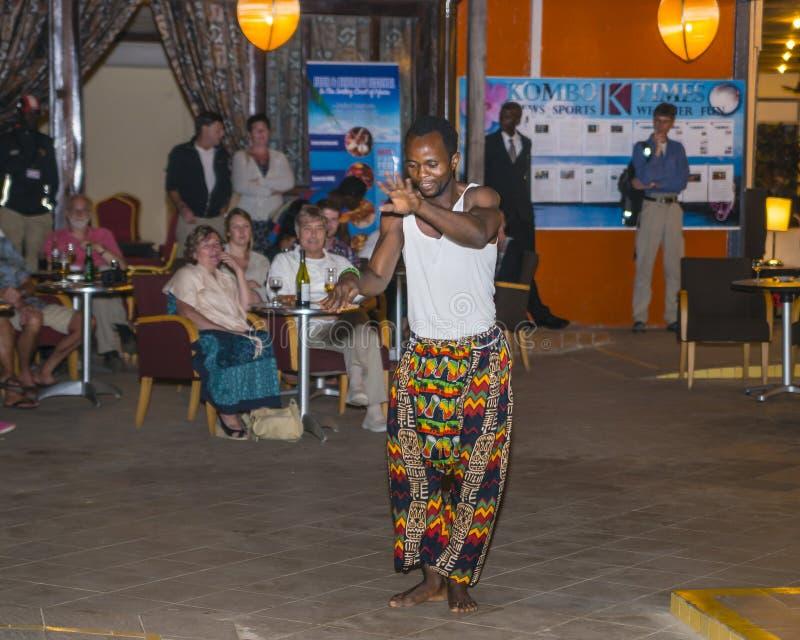 Muziek in hotel in Gambia royalty-vrije stock afbeelding