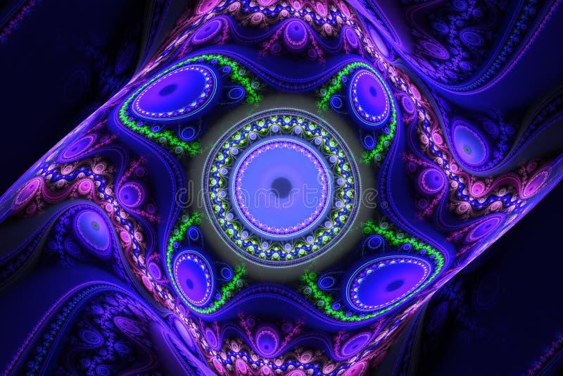 Muziek magische hypnose het dromen abstracte fractal van het droom hypnotic behang achtergrond vector illustratie