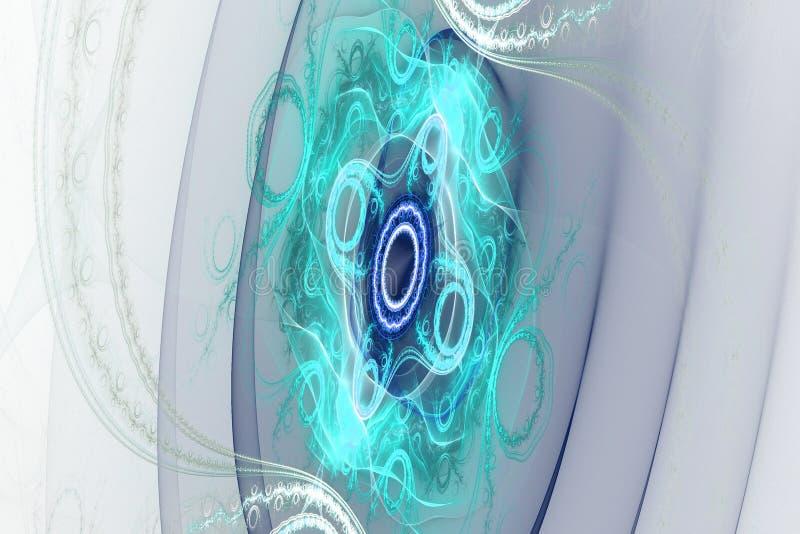 Muziek magische hypnose het dromen abstracte fractal van het droom hypnotic behang achtergrond royalty-vrije illustratie