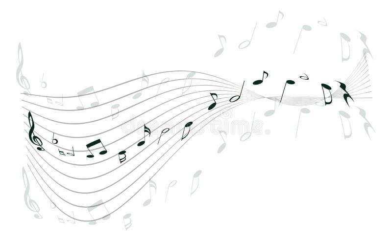 muziek nota's vector illustratie
