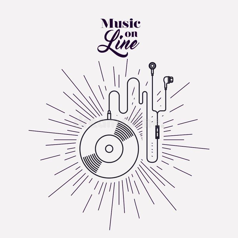 Muziek online ontwerp royalty-vrije illustratie