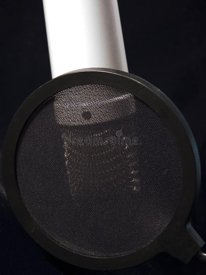 Muziek: Studio Mic met Pop Scherm royalty-vrije stock foto