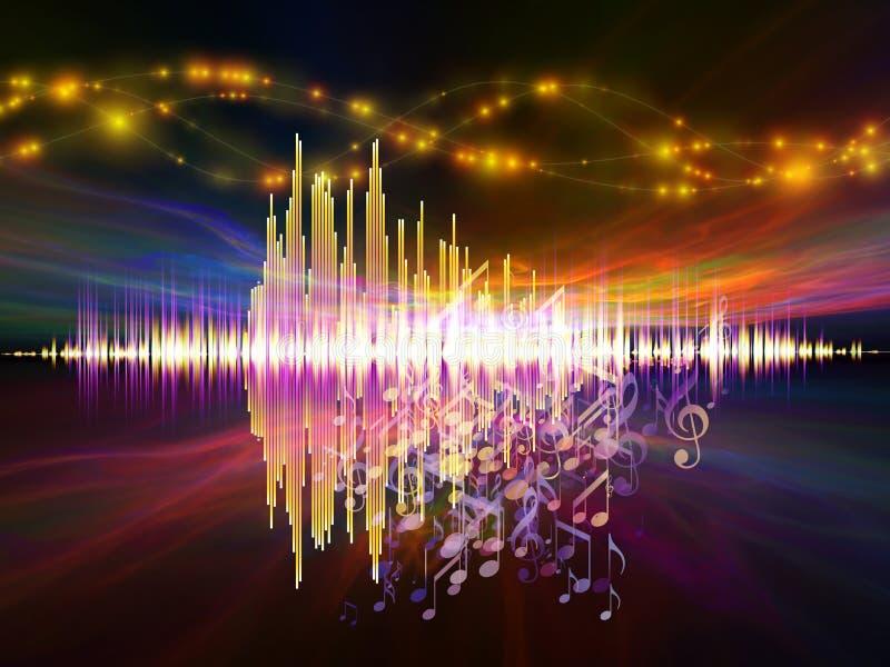 Muziek van hoofdtelefoons stock illustratie