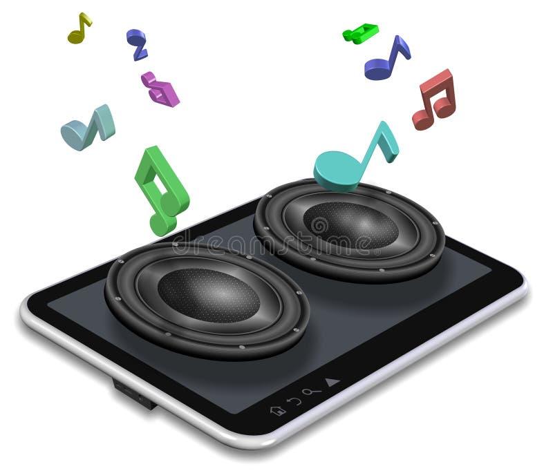 Muziek van tablet stock illustratie