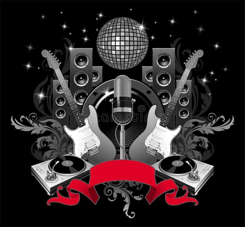Muziek voor altijd vector illustratie