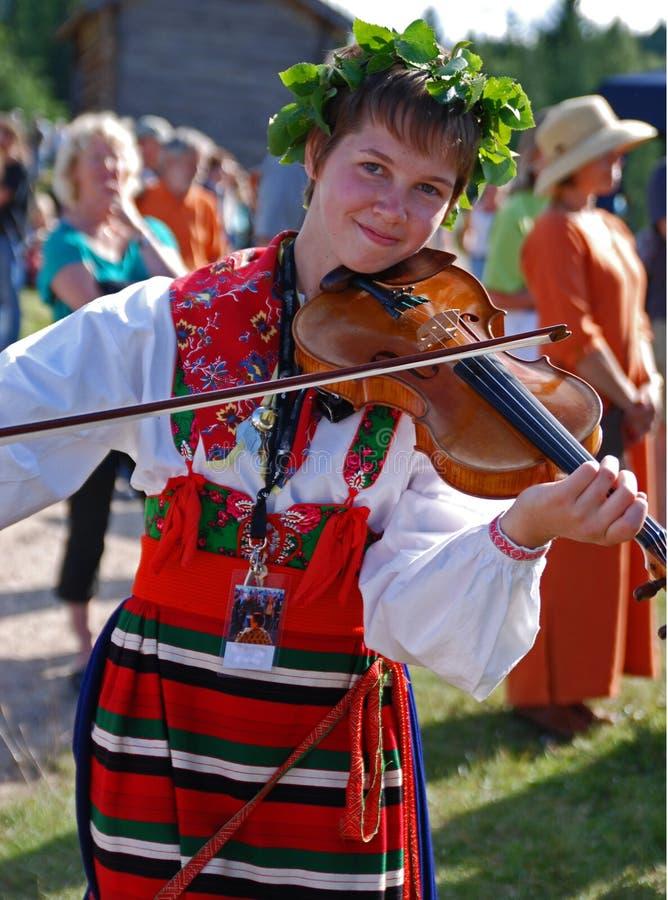 Muziek in Zweden stock foto's