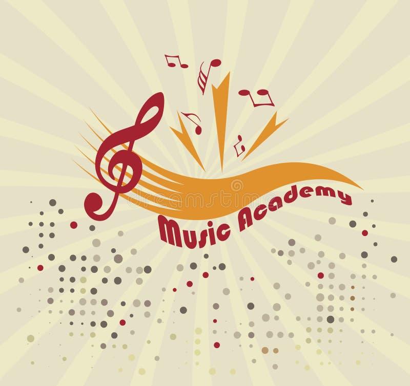 Muziekacademie Abstracte personeel en nota's royalty-vrije illustratie