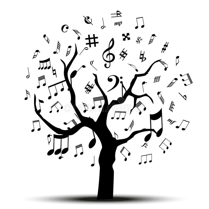 Muziekboom vector illustratie